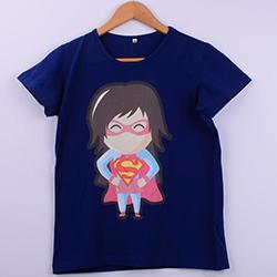 Kişiye Özel Supergirl Baskılı Kadın Tişörtü