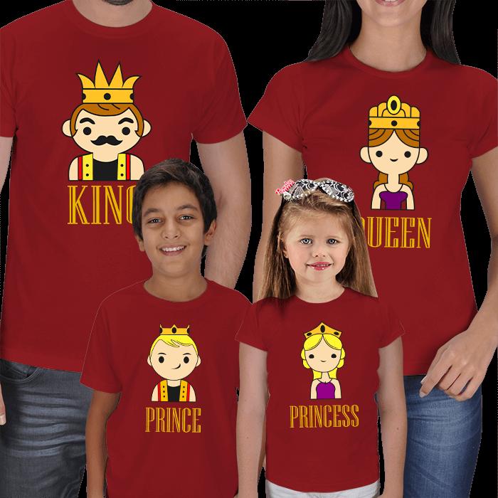 Kraliyet Ailesi 4lü Tişört Kombini