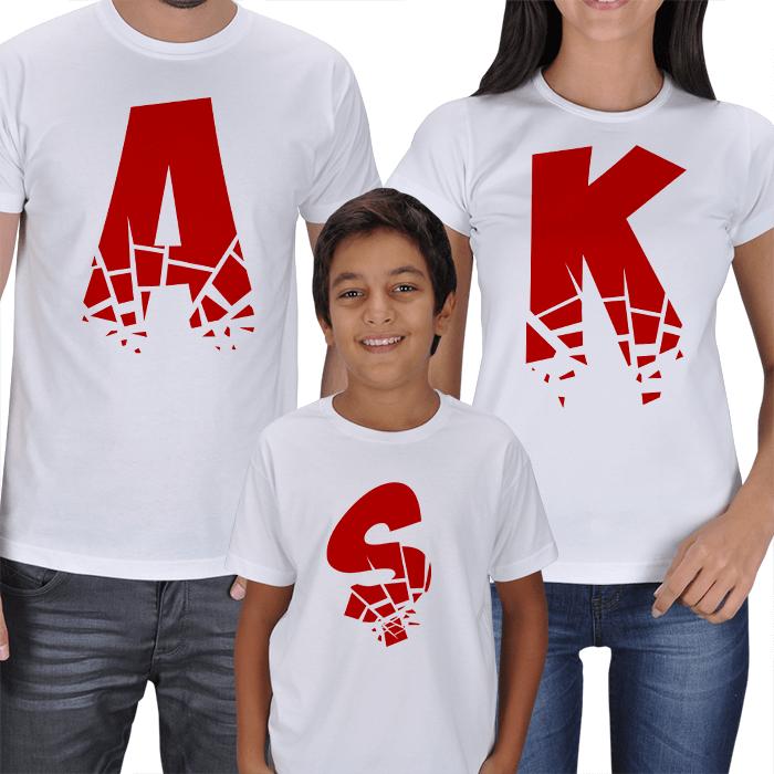 AŞK Anne-Baba-Çocuk 3lü T-shirt