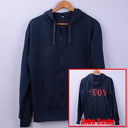 Kişiye Özel 1905 Arka Baskılı Fermuarlı Sweatshirt