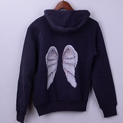 Kişiye Özel Melek Kanatları Sırt Baskılı Sweatshirt