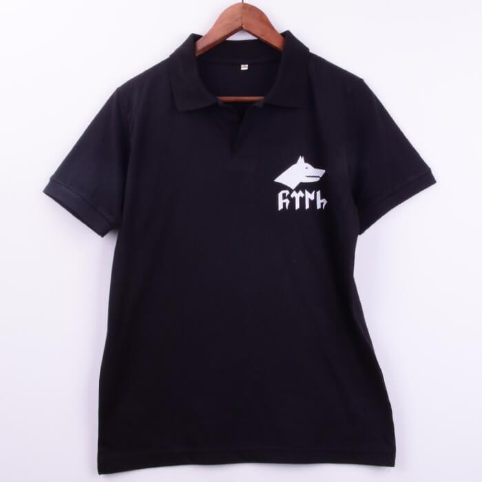 Göktürk Baskılı Polo Yaka Erkek Tişörtü