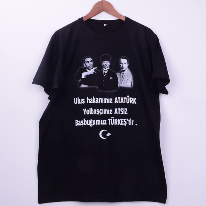 Atatürk Atsız Türkeş Baskılı Tişört