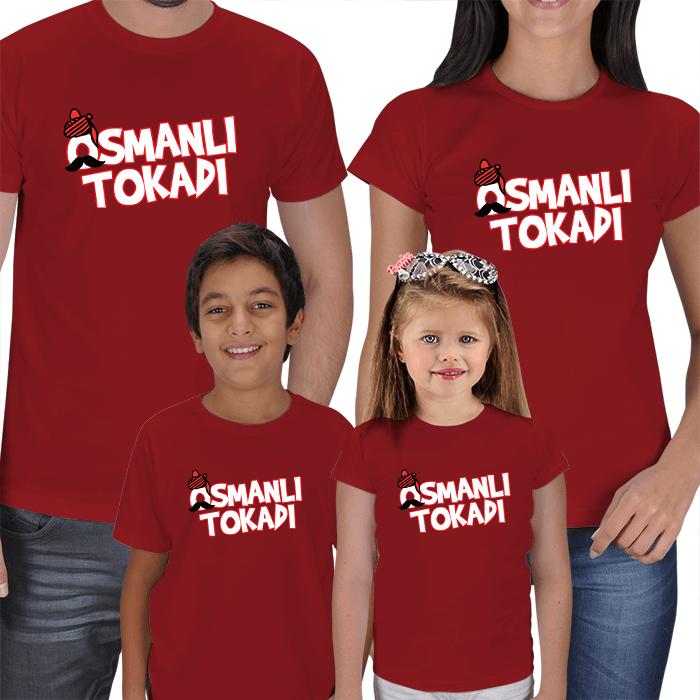 Osmanlı Tokadı 4lü Aile Tişört Kombini