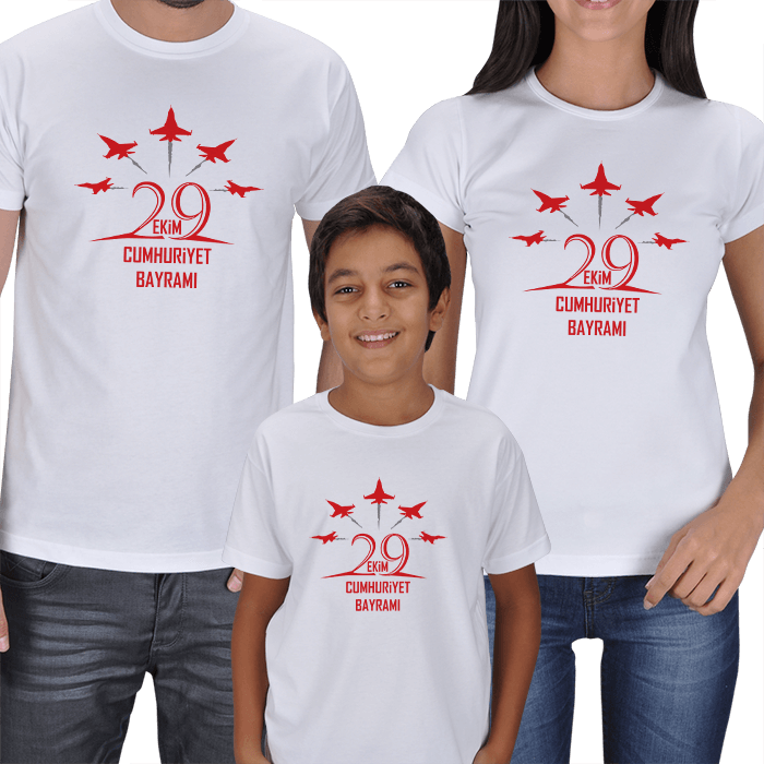 29 Ekim Anne Baba Erkek Çocuk Tişört