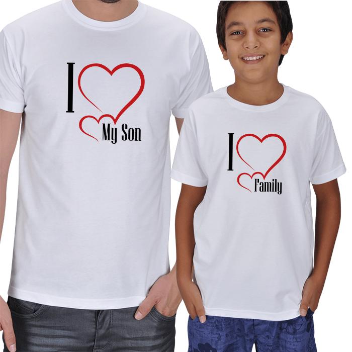 Oğlumu Seviyorum Baba Oğul Tişört Setleri