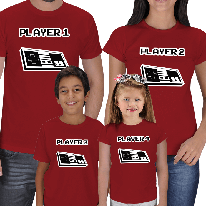 Player 1 - Anne Baba Çocuk T-shirts