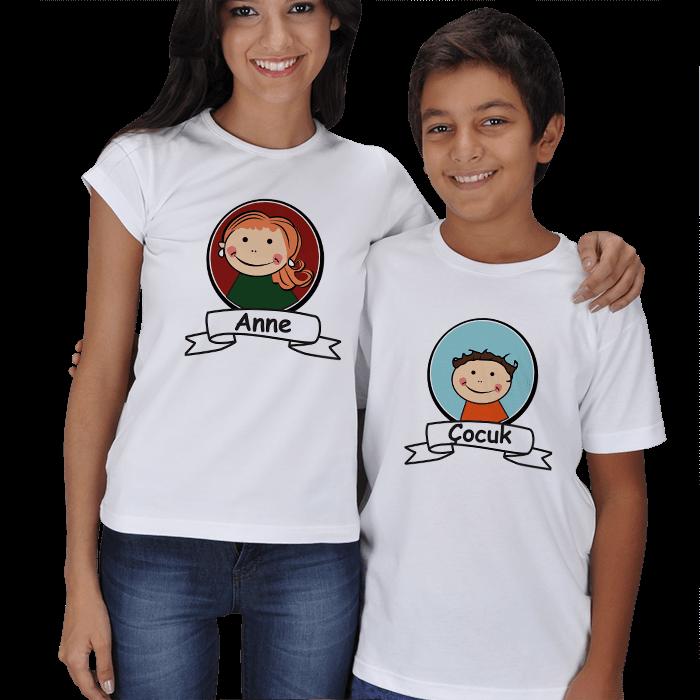 Anne ve Çocuk Resimli Tişörtler