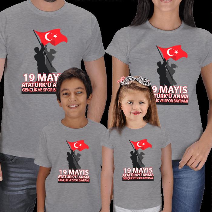 19 Mayıs Anne Baba Çocuk Tişörtleri