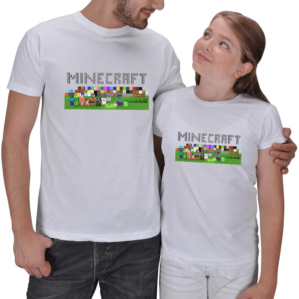 Minecraft Baba ve Kız Tişörtleri