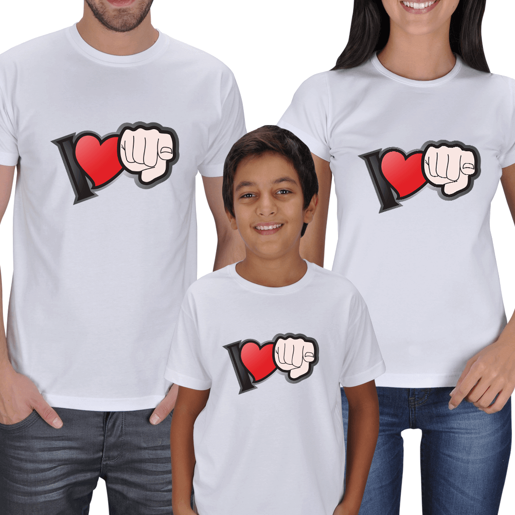 I Love U - Family T-shirts