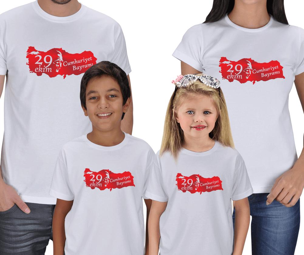 29 Ekim Anne Baba Çocuk Tişörtleri