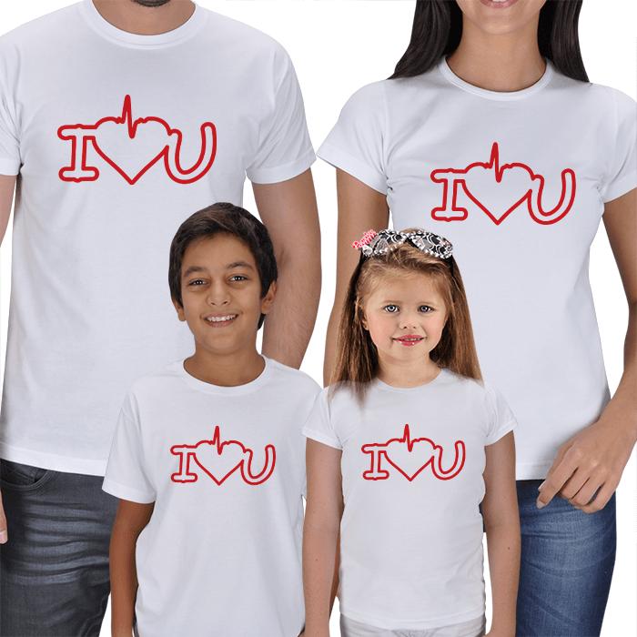 Seni Seviyorum 4lü Aile Tişörtleri