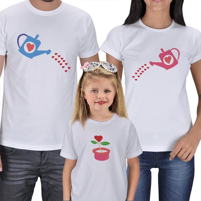 Büyüyen Sevgi Anne Baba Çocuk Tişörtleri