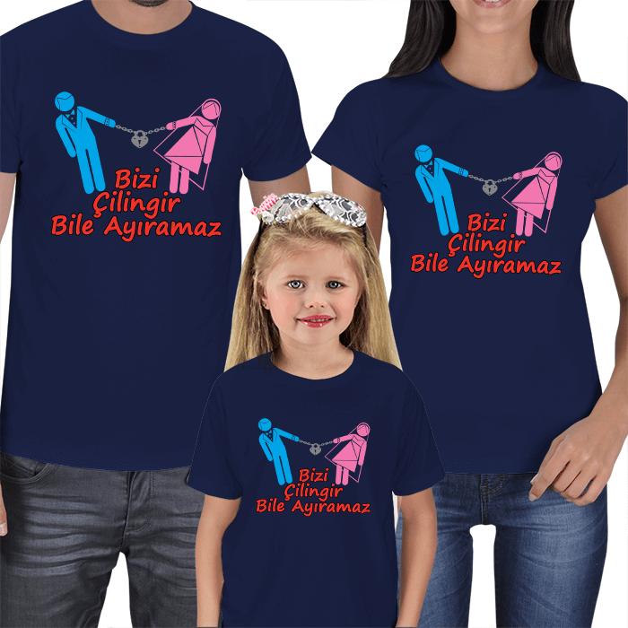 Bizi Çilingir Bile Ayıramaz Aile Tişörtleri