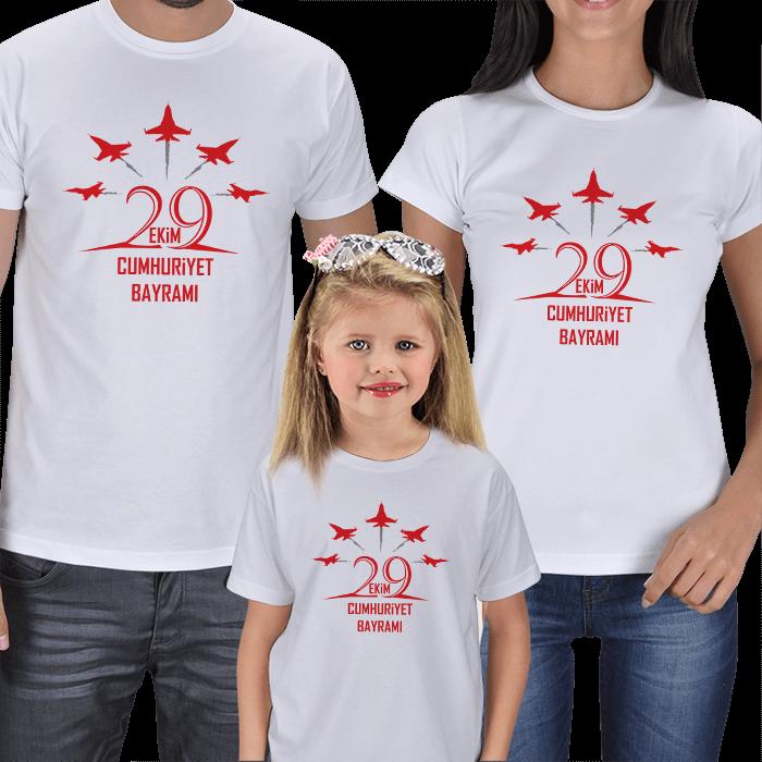 29 Ekim Anne Baba Kız Çocuk Tişörtleri