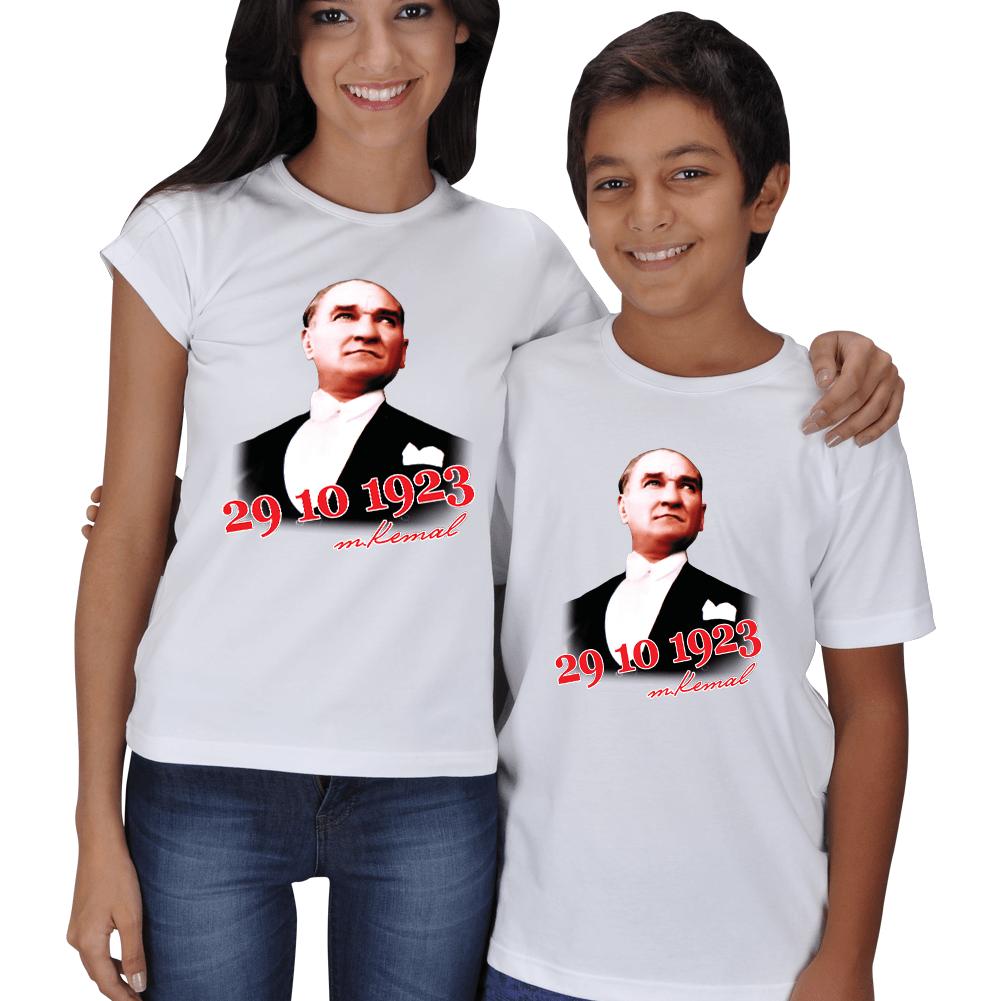 Mustafa Kemal Baskılı Anne Çocuk Tişörtleri
