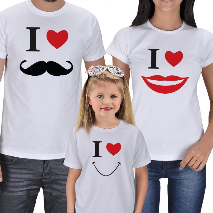 Anne Baba ve Kız Çocuk Tişörtleri