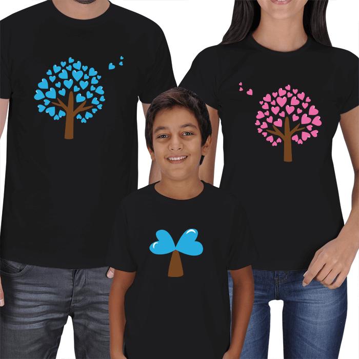 Sevgi Ağacı Anne Baba Çocuk Tişörtleri
