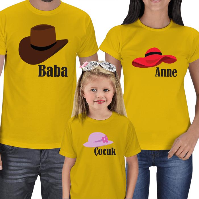Baba Anne Çocuk 3lü Tişörtler