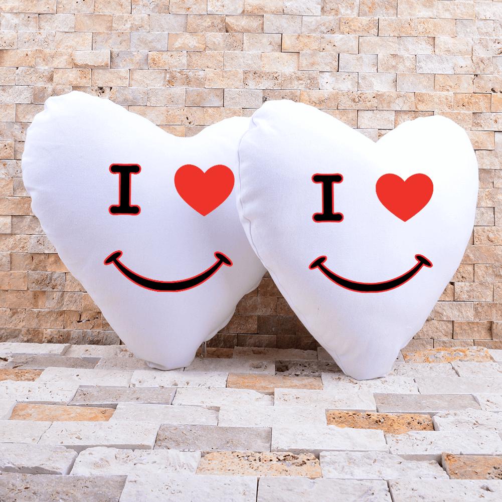 Kişiye Özel Sevgili Kalp Yastık Kombini