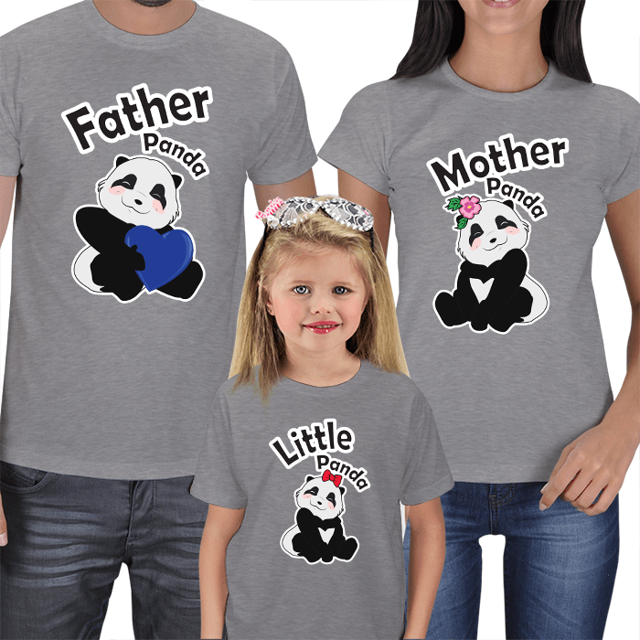 Panda Family T-shirts Set