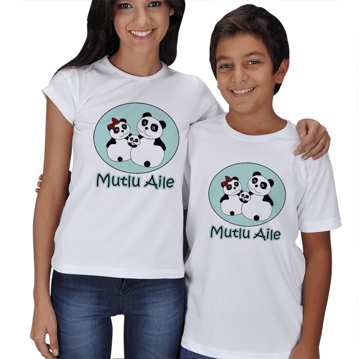 Mutlu Panda Aile Anne Çocuk Kombini