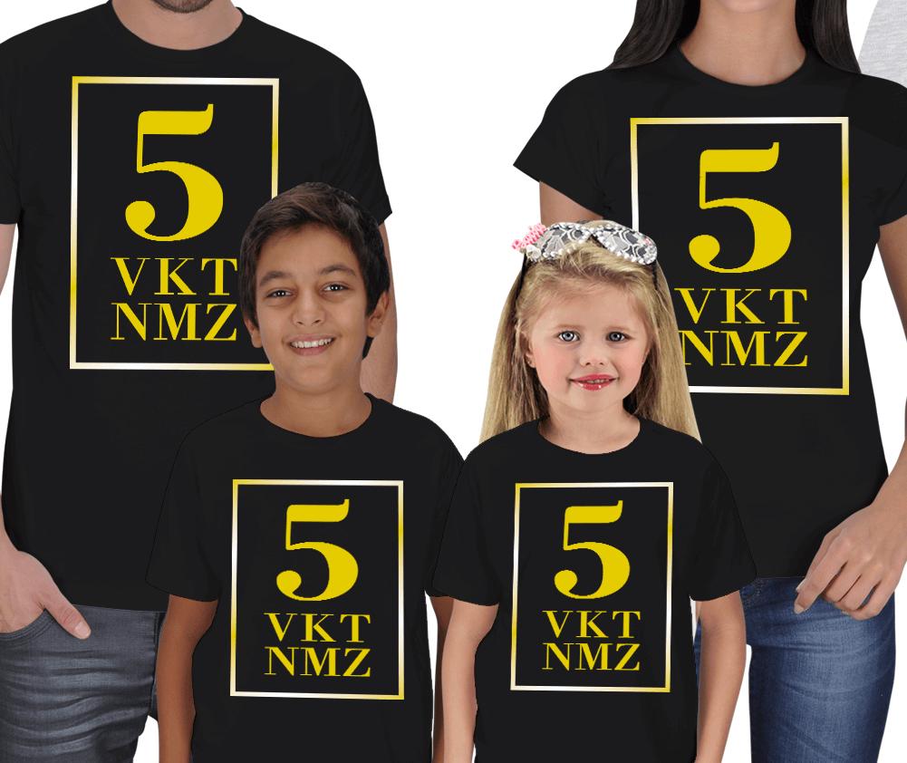 5 Vakit Namaz Anne Baba Çocuk Tişörtü