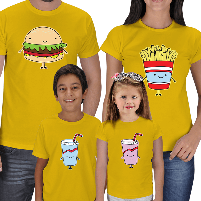 Fastfood Family Concept T-shirts