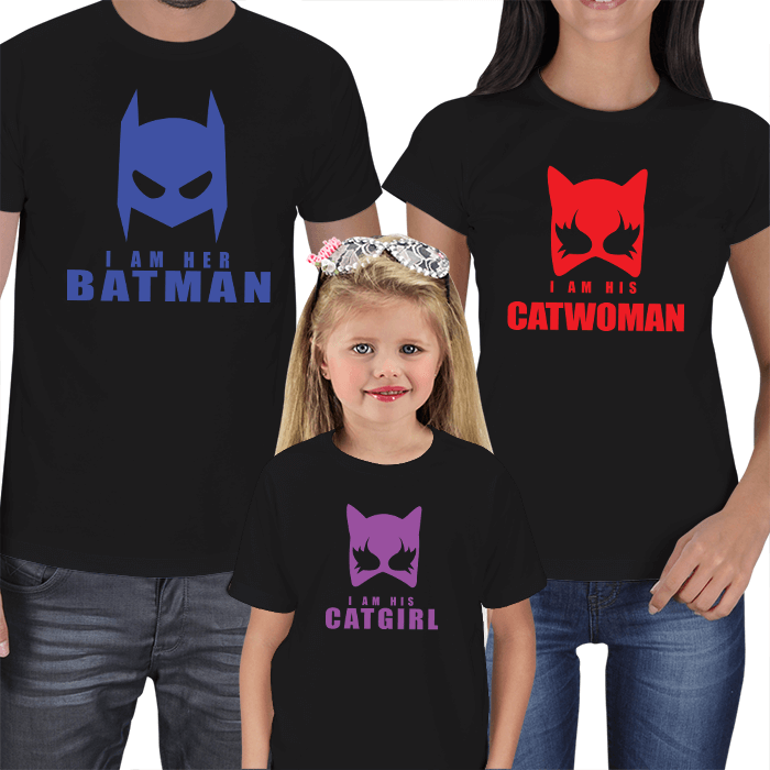 Batman - Catwoman - Catgirl Tişört Kombini