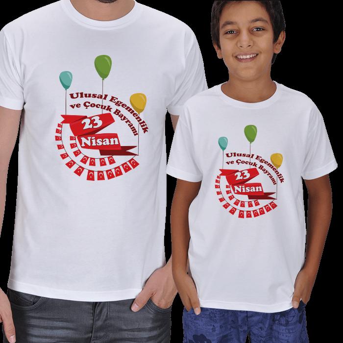 23 Nisan Baba Çocuk Tişörtleri