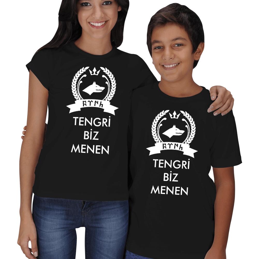Kişiye Özel Tengri Biz Menen Anne Çocuk Tişörtleri
