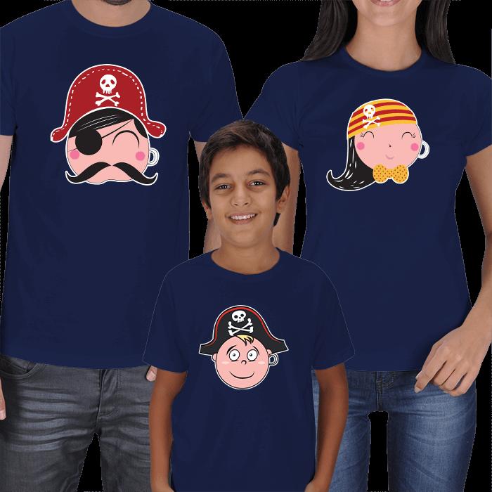 Korsanlar Anne Baba Erkek Çocuk Tişörtleri