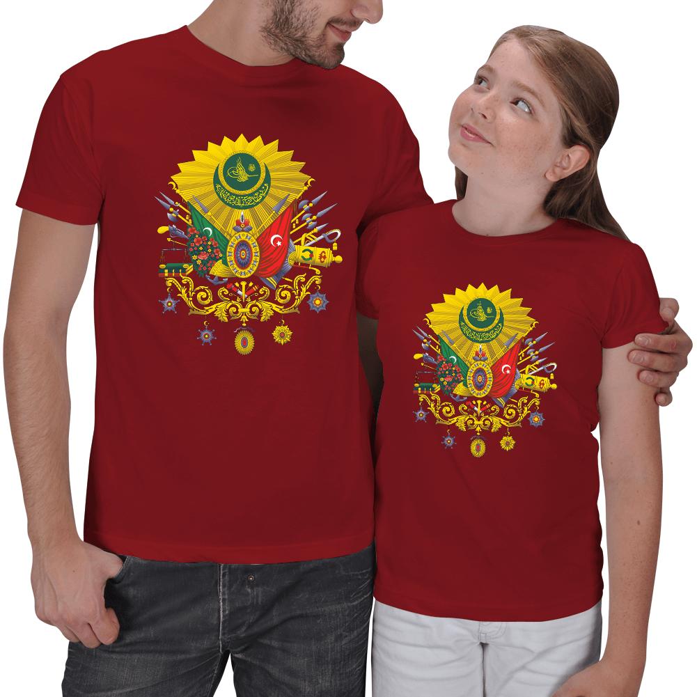 Kişiye Özel Osmanlı Devlet Arması Baba Kız Tişört