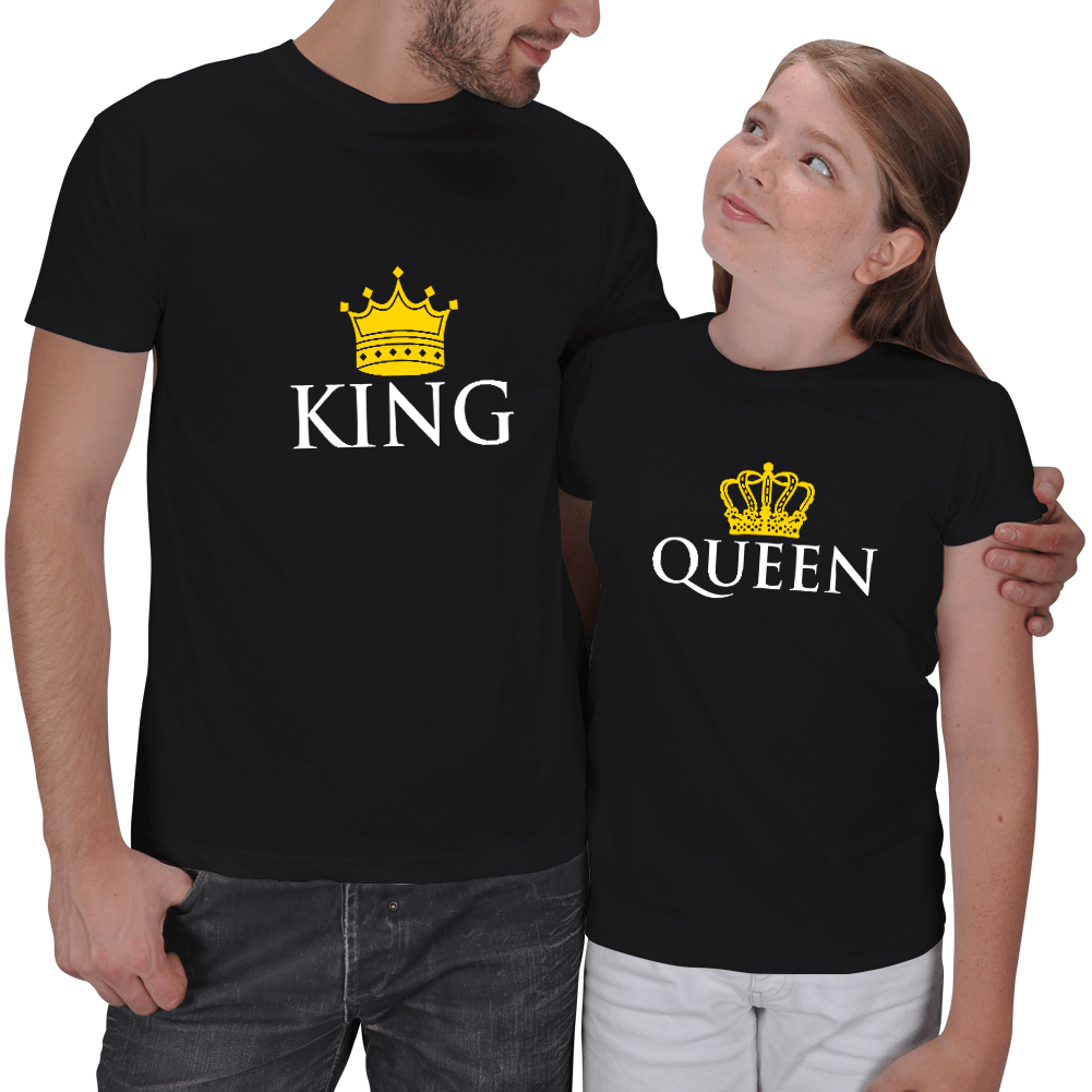King and Quenn Baba Kız Tişörtleri