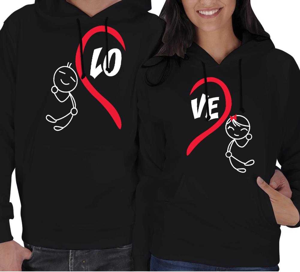 Kişiye Özel Love Birbirini Tamamlayan Sevgili Kombini