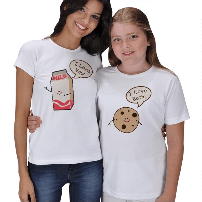 Süt ve Kurabiye Anne Kız Tişörtü