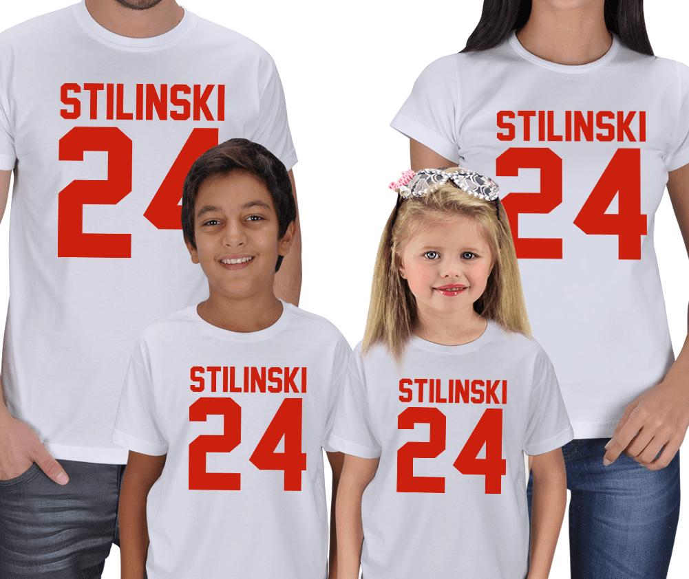 Stilinski Anne Baba Çocuk 4lü Tişörtler