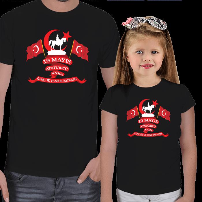 19 Mayıs Baba ve Çocuk Tişörtleri