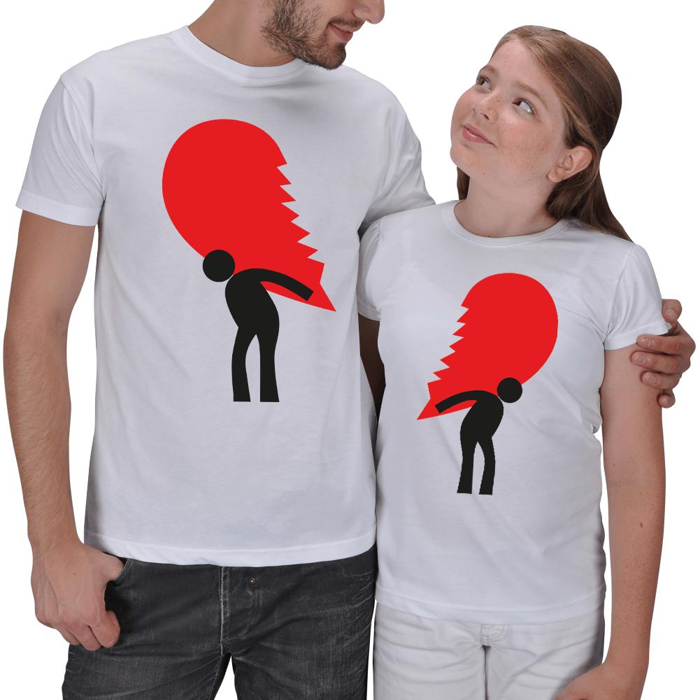 2li Baba ve Kız Çocuk Kombinli Tişörtler