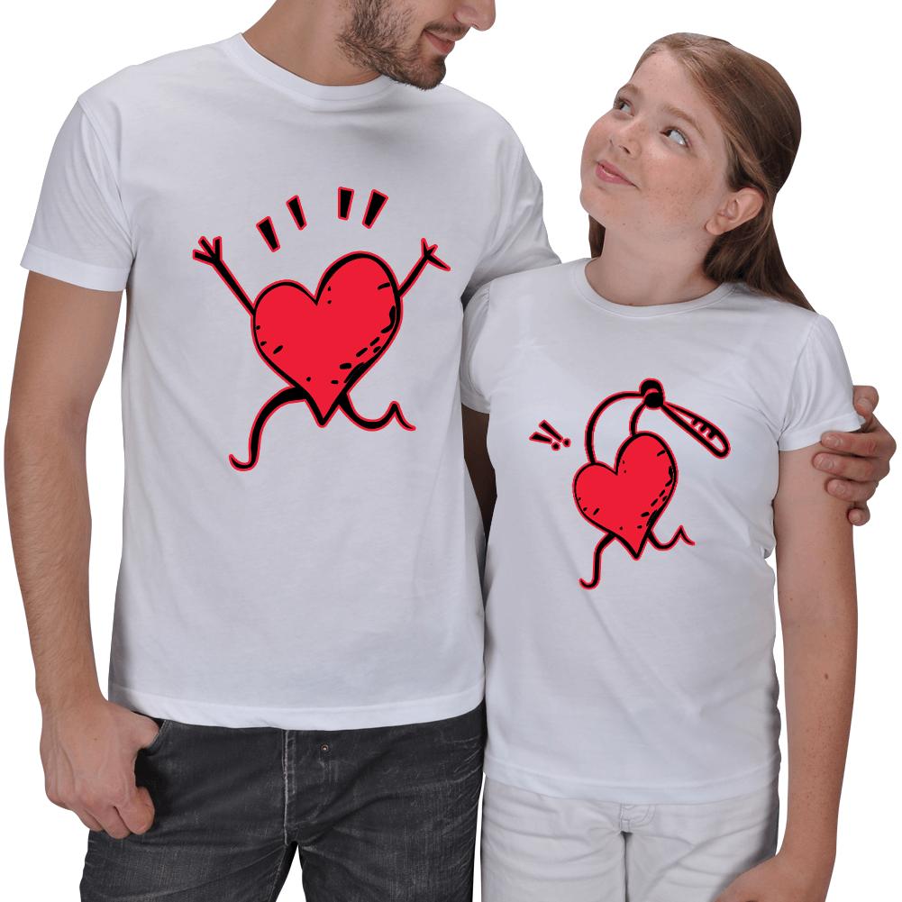 Baba ve Kız Çocuk Tişört Kombinleri