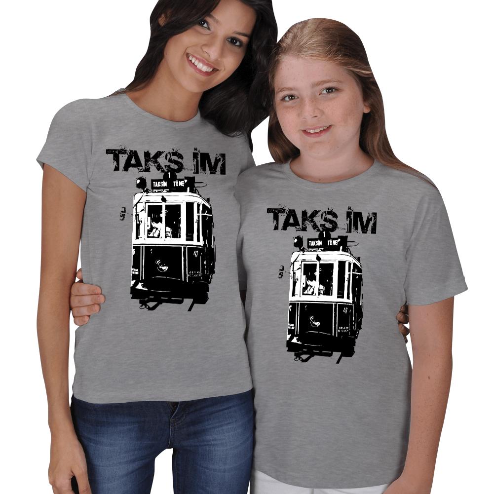 Taksim Baskılı Anne Kız Tişörtü