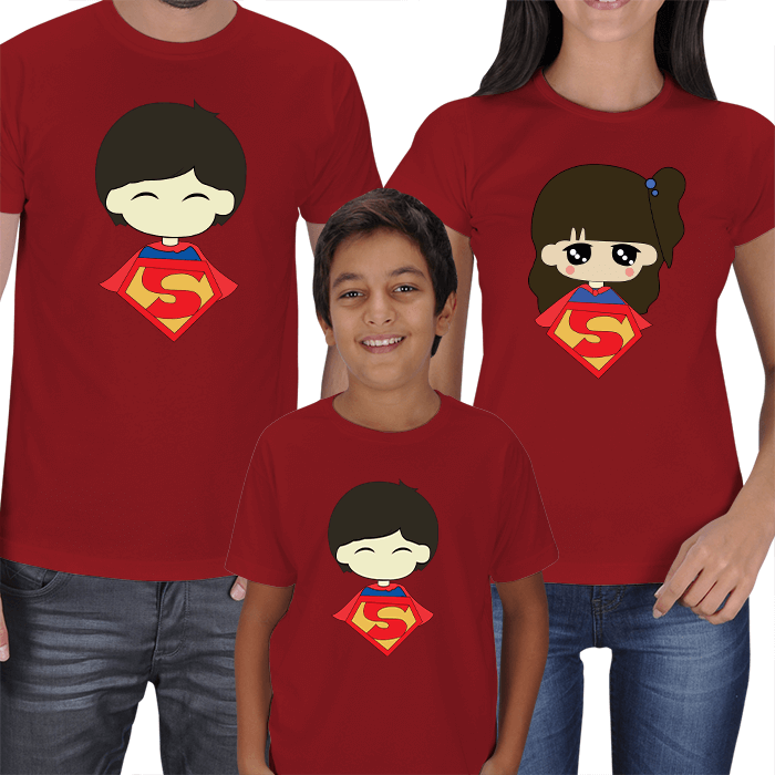 Superman and Superwoman- Family T-shirts
