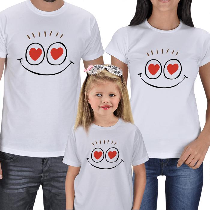 Anne Baba Çocuk Tişört Kombinleri