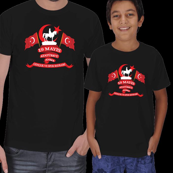 19 Mayıs Baba Çocuk Tişörtleri