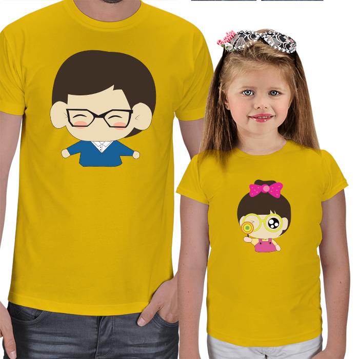 Baba ve Kız Çocuk Tasarımlı Tişörtler