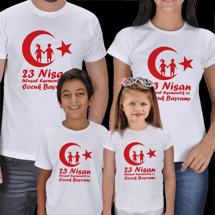 23 Nisan Anne Baba Çocuk Tişörtleri