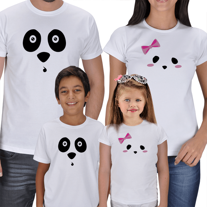 Panda Face Family T-shirts