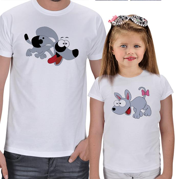 Baba Kız Eğlenceli Tişört Kombinleri