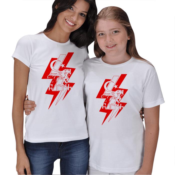 Ay Yıldız ve Türk Anne Kız Tişörtleri
